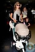 Alessandra Ambrosio, Anja Mazur at LAX Quinny Moodd
