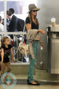 Alessandra Ambrosio and daughter Anja LAX