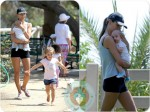 Alessandra Ambrosio with daughter Anja & son Noah