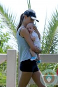 Alessandra Ambrosio with son Noah out in LA