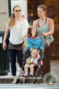 Amy Adams and daughter Aviana LeGallo out in New York City