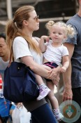 Amy Adams with daughter Aviana LeGallo out in New York City
