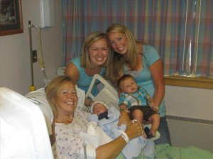 Angel Herbert with her mom Linda and son Madden