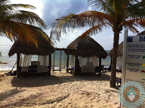 Azul Beach ~ cabanas on the beach