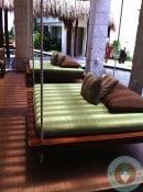 Azul Beach - lobby swing beds