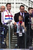 David Beckham with son Romeo at London Summer Olympics