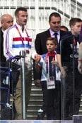 David Beckham with son Romeo at London Summer Olympics