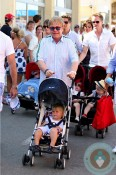Elton JOhn with zachary in St Tropez