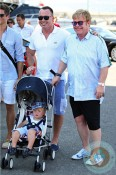 Elton John with David Furnish and son Zachary in ST