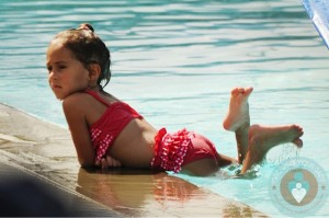 Emme Anthony by the pool in Miami