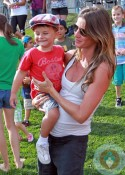 Gisele Bunchen, son Benjamin Brady at Patriots training camp