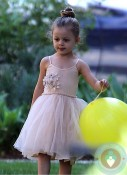 Harlow Madden at a birthday party LA