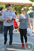 Hilary Duff and Mike Comrie with son Luca out in LA