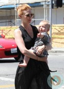 January Jones, son Xander out in LA