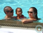 Jennifer Lopez with Daughter Emme and boyfriend Casper Smart Miami