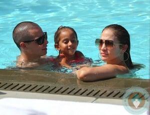 Jennifer Lopez with Daughter Emme and boyfriend Casper Smart Miami