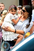 Katie Holmes and Suri Cruise MOMA New York City