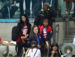 Kobe Bryant seen with wife Vanessa Laine and daughters Natalia & Gianna at the olympics