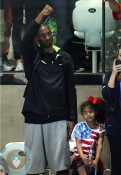 Kobe Bryant seen with wife Vanessa Laine and daughters Natalia and Gianna olympics