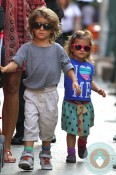 Levi and Vida McConaughey out in NYC