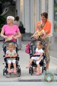 Mirka Federer with her twins Myla Rose, Charlene Riva