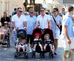 NPH and Elton John with their families in ST