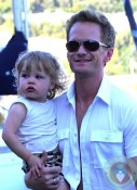 Neil Patrick Harris and harper in St. Tropez