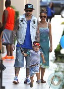 Nicole Richie, Joel Madden, Sparrow Madden @ a Birthday Party LA