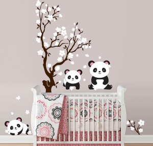 Panda children's wall decalls