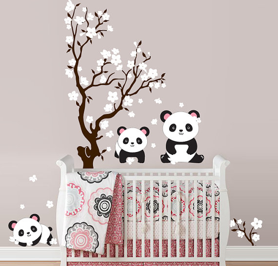 Baby Room Wall Décor Ideas Tips For Careful Parents: Panda Love ~10 Cool Themed Items For Kids