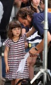 Peter Sarsgaard with his daughter Ramona in NYC