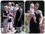 Pink, Carey Hart and baby Willow out in LA