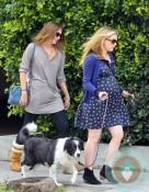 Pregnant Anna Paquin out for a walk Venice Beach