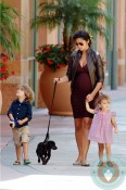 Pregnant Camila Alves, Levi McConaughey & Vida McConaughey LA