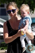 Rebecca Gayheart, 8 month olds daughter Georgia Dane out in LA