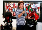 Romero Britto at Quinny:Maxi Cosi Event Miami