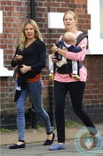 Sienna Miller and a friend stroll with the actress' daughter Marlowe