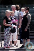 Singer Pink, Carey Hart and Willow Hart out for sushi in Malibu