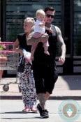 Singer Pink, Carey Hart, daughter Willow Hart out in Malibu