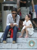 Suri Cruise and Katie Holmes at the MoMA in NYC