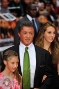 Sylvester Stallone with daughters  Sistine, and Scarlet