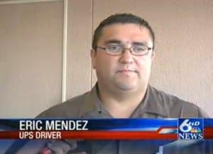 UPS man Eric Mendez saves toddler's life