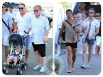 elton john with neil patrick harris & family in st.tropez