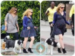 pregnant actress Anna Paquin out for a walk in Venice Beach