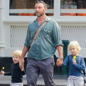 Daddy Day Out!  Liev Schreiber Steps Out With His Boys in SoHo