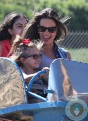 Alessandra Ambrosio with daughter Anja Mazur out at Malibu cookout