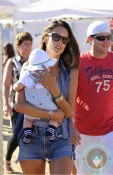 Alessandra Ambrosio with son Noah Mazur out in Malibu