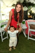 Ali Landry and son Marcelo Monteverde at the Disney Baby Store Opening