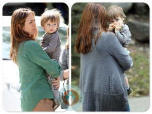 Alicia Silverstone with son Bear