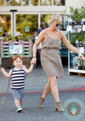 Amy Poehler out with son Able
